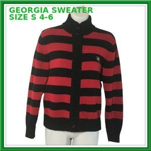 RED AND BLACK SWEATER SIZE S (Ships Free!)